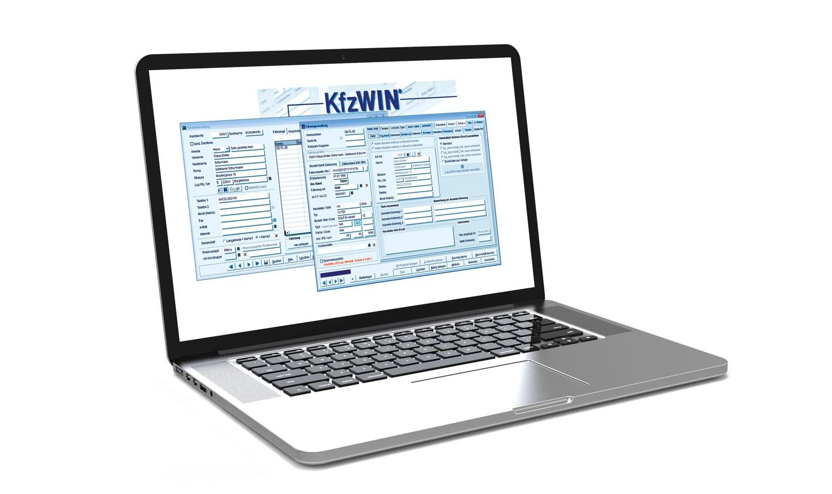 Laptop Screen KfzWIN